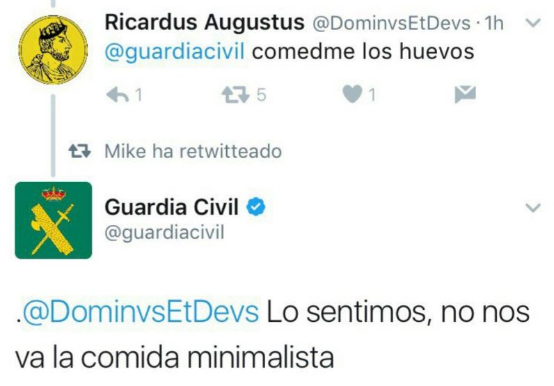Guardia Civil Twitter Gracioso