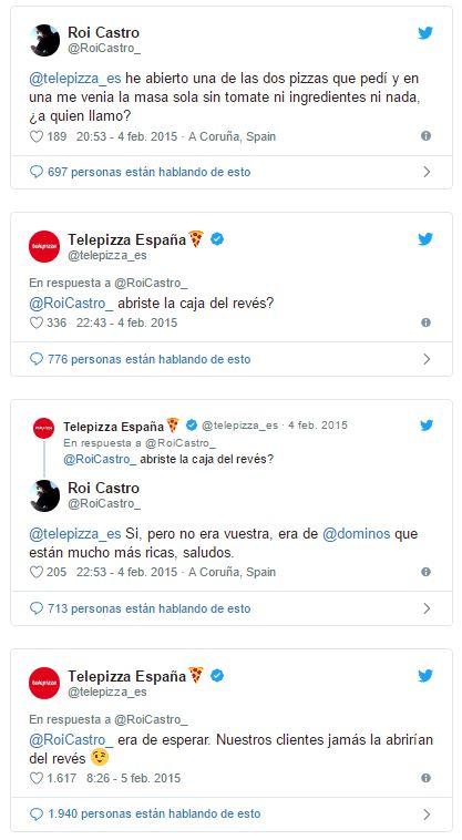 Respuesta Community Telepizza