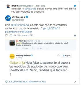 Twitter Air Europa
